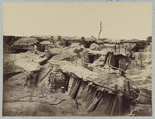 Bomb-proof quarters in Fort Sedgwick in front of Petersburg, Va.
