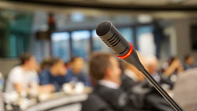 microphone at podium