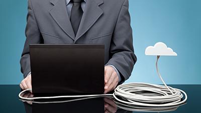 person at laptop, cloud adoption