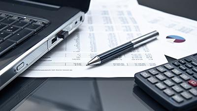 laptop, paperwork