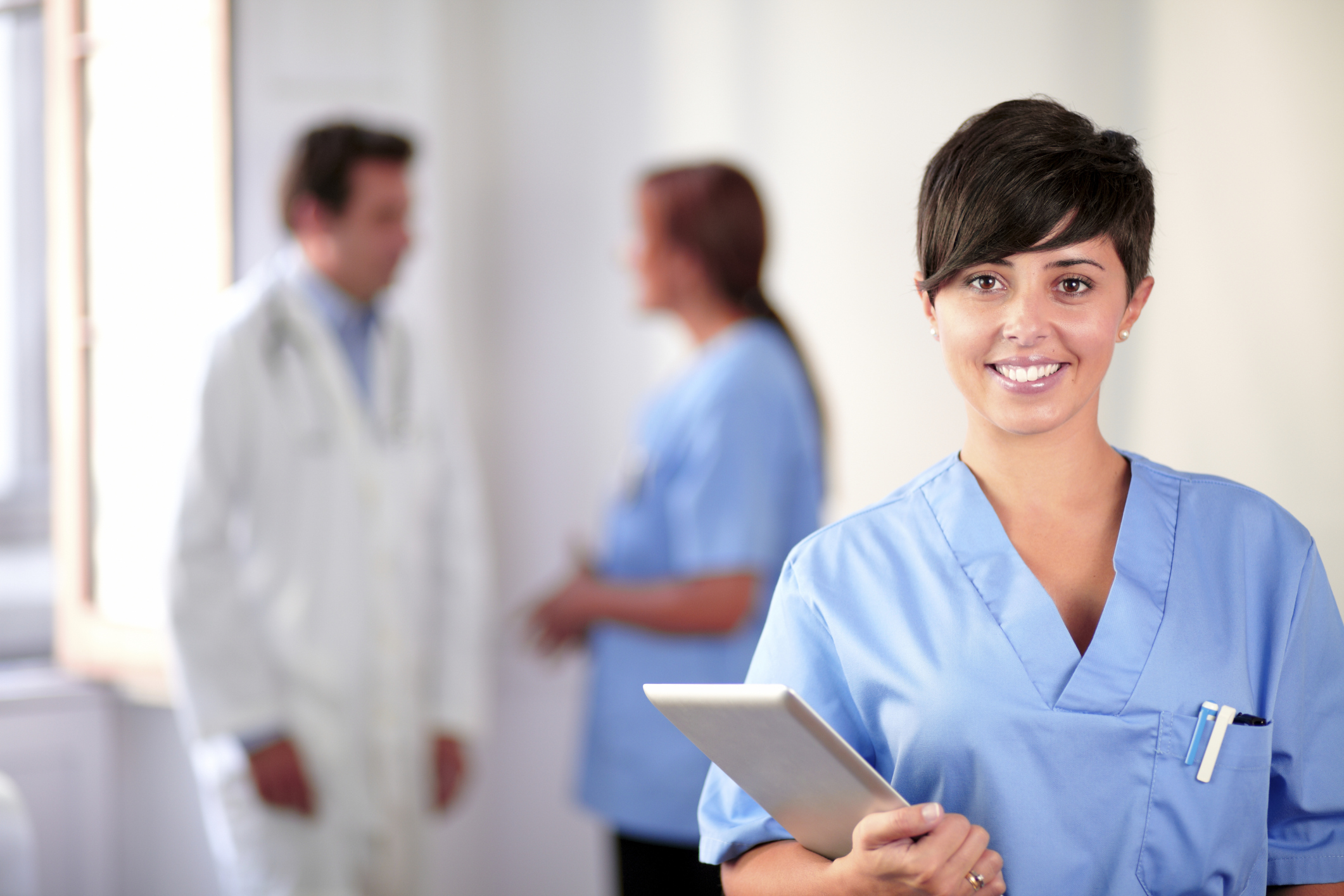 nurses working in hospital, rn to bsn
