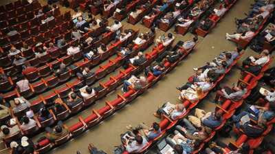 audience at business conference