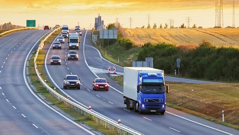 sloping highway road