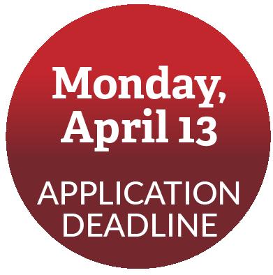 Application deadline: April 13