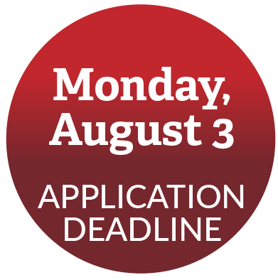 Application deadline: August 3