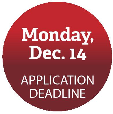 Application deadline: December 14