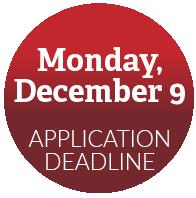 Application deadline: December 9