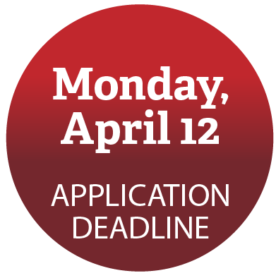 Application deadline: April 12, 2021