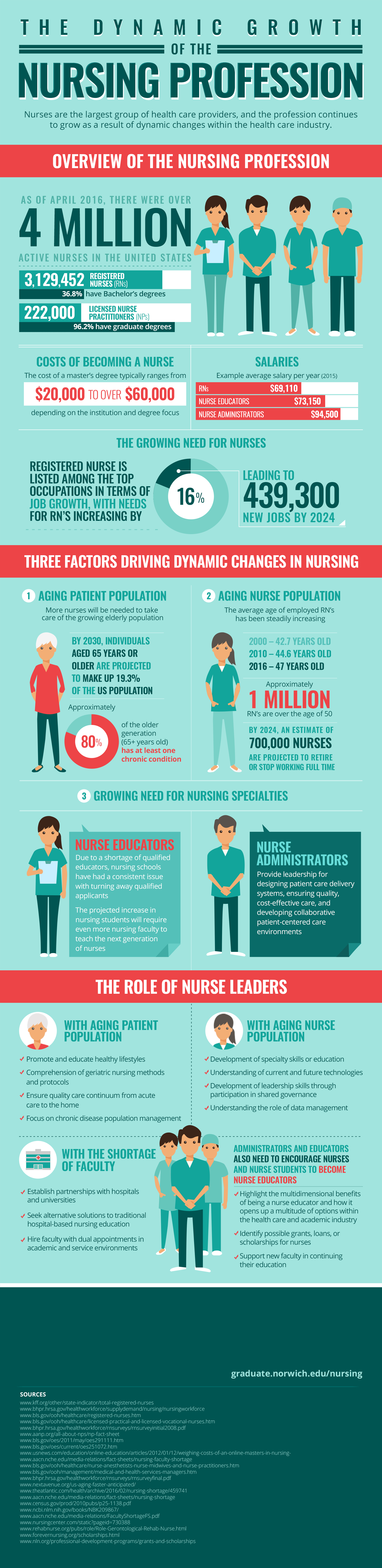 infographic on the growth in the nursing profession