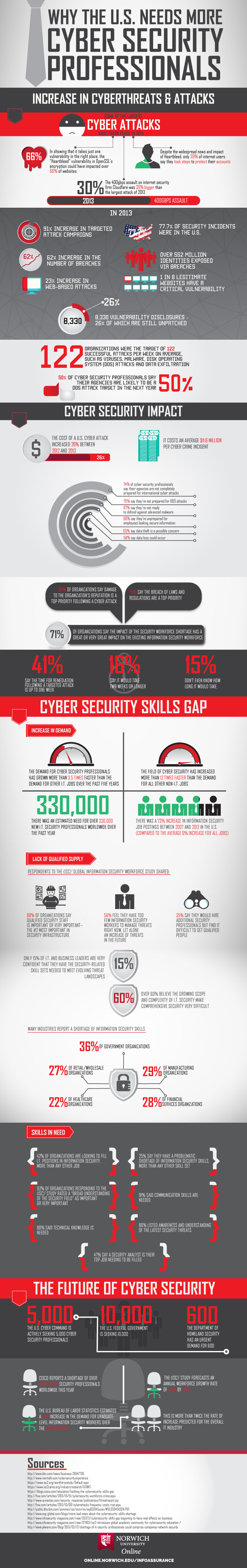 infographic on the need for cyber professionals