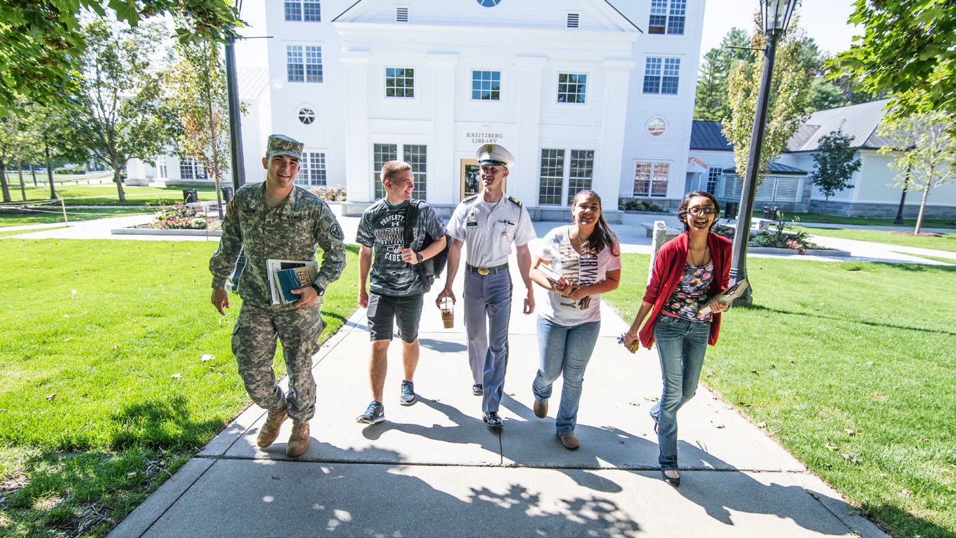campus, students