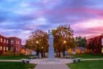 Partridge statue, norwich campus - sunset