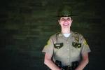 Julie Scribner '15, MPA '19 portrait in state police uniform
