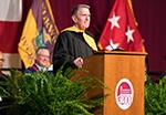 general neal commencement speech, on stage