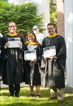 graduate students at hooding ceremony
