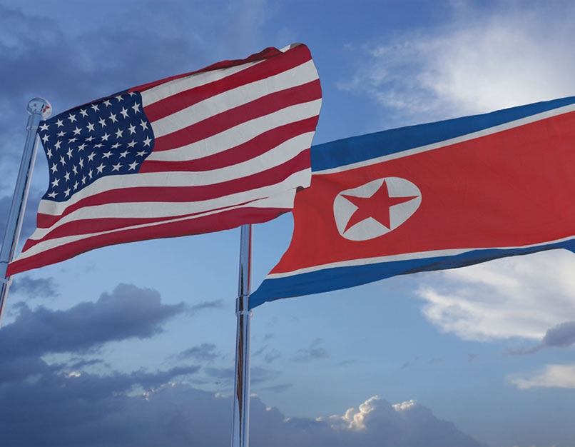 american flag, korean flag