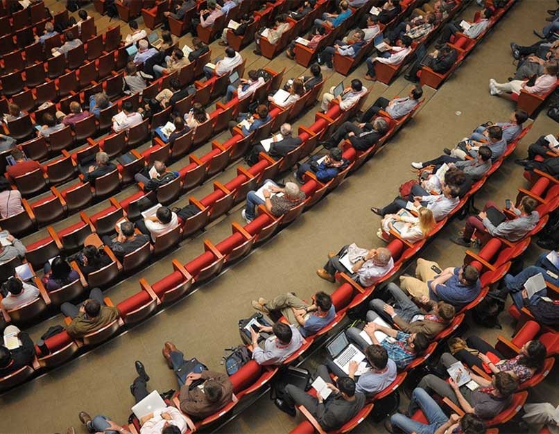 lots of people in large auditorium
