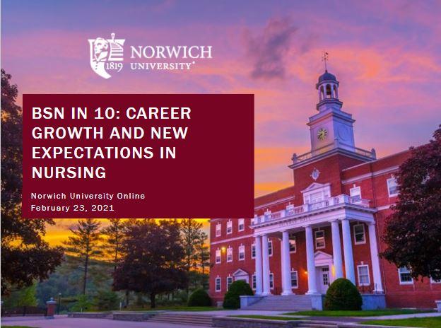 Norwich RN-BSN webinar slide